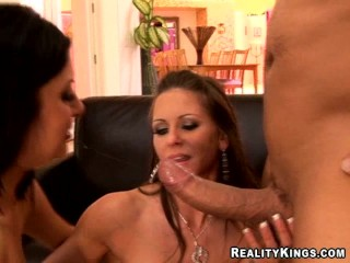 two hotties attack a lucky cock - 11