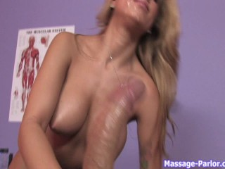 August gives a happy ending massage - 16