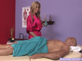 August gives a happy ending massage - 6