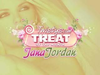 Sexy Jana Jordan Strips And Teases