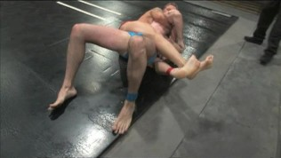 Hot muscles in wrestling action!