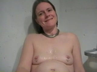 Pink shaved wet pussy