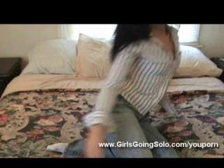 Amateur girl Andie masturbating on home video