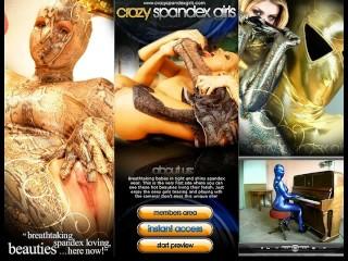 Pornstar Sandy in fullbody nylon catsuit