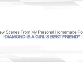 DIAMOND IS A GIRL'S BEST FRIEND - AMATEUR LESBIAN