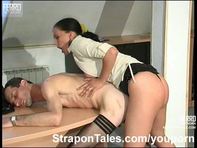 Strapon lady and man porn