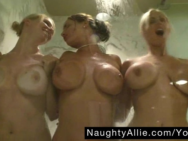 Hot Blonde Lesbian Threesome