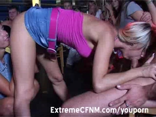 Blowjob in public video