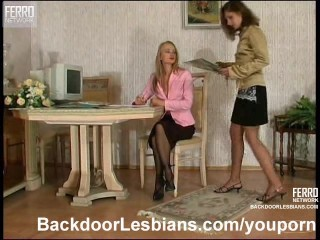 Lesbians licking and fucking each other's asses