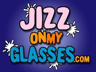 Hot Blonde Gets Glasses Facial Goldie blowjob