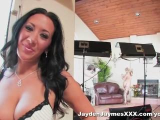 Jayden Jaymes has a three way lesbian fuck fest