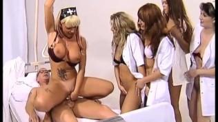 Poor patient fucked by 8 GIRLS!