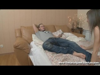 Hot Victoria gets her virgin ass fucked