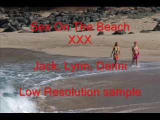 Sex on the beach threesome Lynn & Danni