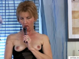 Older Mature Wife in Solo Dildo Fucking