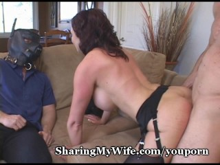 Hot Wife Shows Hubby How He Should Fuck