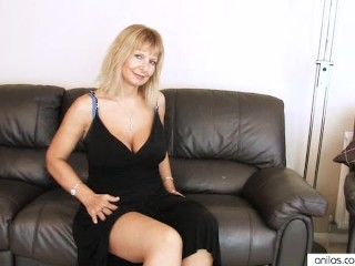 Busty Mature Fingering Her Hairy Pussy
