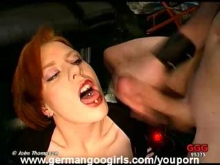 Redhead Yuna Drinks Cum After Giving Head