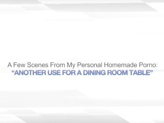 ANOTHER USE FOR A DINING ROOM TABLE – BI BLONDES