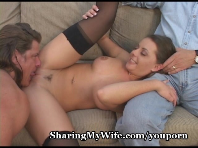 Wife shares cock with husband