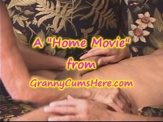 GRANNY Licks ASS and gets a CREAM PIE