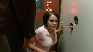 So 2 girls walk into a sex store with glory holes