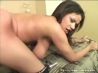 Mega big Titty Brunette Doggy Banged