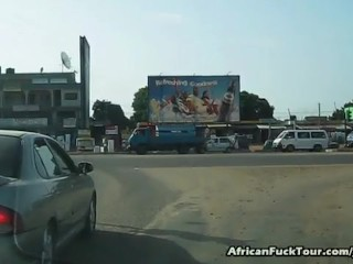 Pretty African Girl Riding Huge White Dick