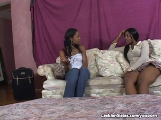 Black Lesbians Toying And Licking Pussy