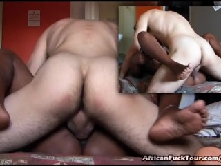 Italian Guy Nailing Pleasing African Girl