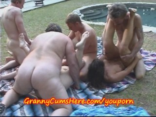 Two Grannies and a CO-ED have OUTDOOR FUN