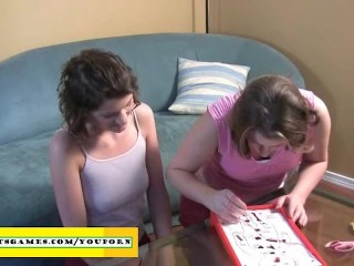 Amateurs playing a funny sex game