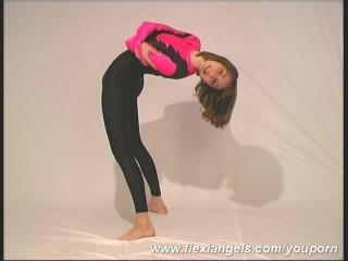 Amateur/sretching/posing clip ballerina flexible