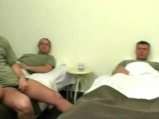 Hot nurse gangbanged by the army