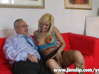Blonde chick from the UK getting fucked hard