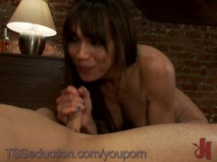 Picture TS Yasmin Lee fucks and dominates her men