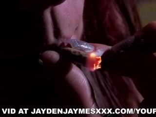 Jayden James and Jayden Cole on 70's set