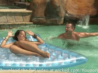 Horny Slut Gets Some Big Cock At The Pool