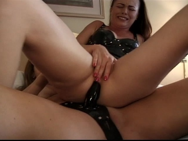 Lesbian playing with ass