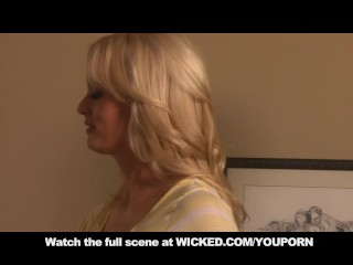 Blonde MILF Stormy Daniels Gets  A HARD FACIAL