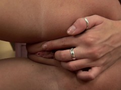 Picture Adorable Leslie fucking herself with dildo