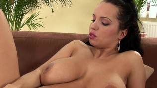 Busty Laura getting off solo