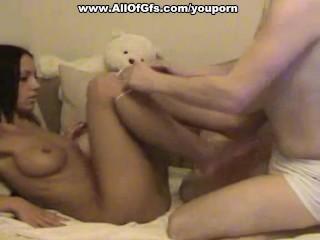 Sexy/diving girlfriend muff scene naked