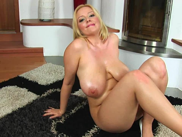 Blonde Mature Huge Tits Solo