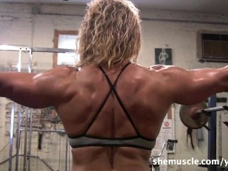 Sexy Mature Blonde Workout