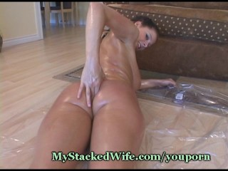 Big Tit Honey Massages Baby Oil - 15
