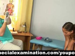 Cute girl passes medical examination - 4