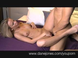 DaneJones Petite blonde makes love