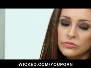 Horny brunette Pornstar Gracie Glam has her wet pussy fucked hard