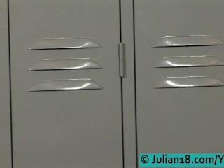 Julian Fucked by 2 Guys In the locker room